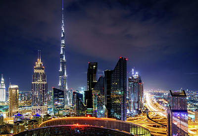 Photograph - Dubai Downtown Skyline by Alexey Stiop