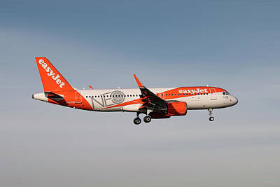 Mixed Media - Easyjet Neo Livery Airbus A320-251n by Smart Aviation