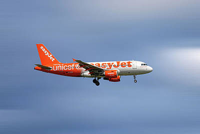 Mixed Media - Easyjet Unicef Livery Airbus A319-111 by Smart Aviation