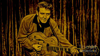 Rock And Roll Mixed Media - Eddie Cochran Collection by Marvin Blaine