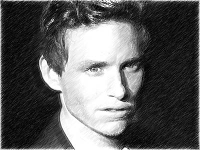 Actor Digital Art - Eddie Redmayne by Elizabeth Simon