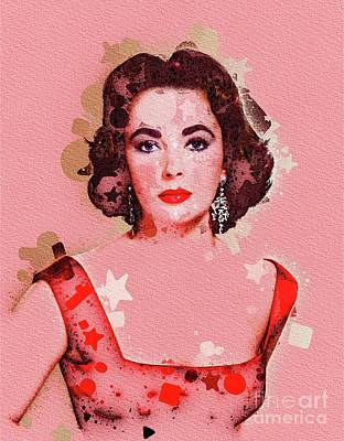 Actors Royalty-Free and Rights-Managed Images - Elizabeth Taylor, Movie Legend by Mary Bassett