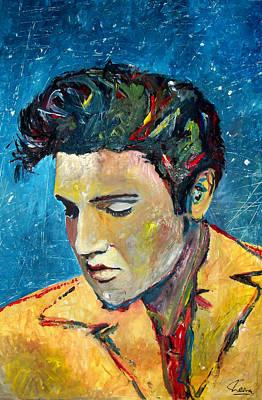 Las Vegas Artist Painting - Elvis by Marcelo Neira
