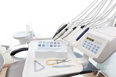 Angle Photograph - Equipment And Dental Instruments In Dentist's Office by Michal Bednarek