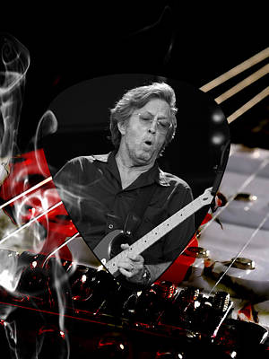 Clapton Mixed Media - Eric Clapton Art by Marvin Blaine