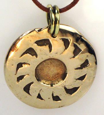 Brass Bail Jewelry - Esprit Del Sol - Southwest Sun Spirit Necklace by Virginia Vivier