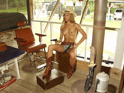 Nude Cowgirls Glamorous Photograph - Everglades Cowgirl by Lucky Cole