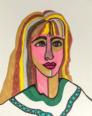 4 Faces Of Laurel - II Art Print