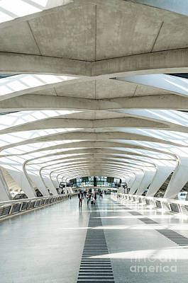 World War Two Production Posters - Famous Lyon Airport Tgv Railway Station Landmark Interior In Fra by JM Travel Photography