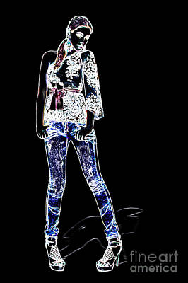 Fashion Model Art Print
