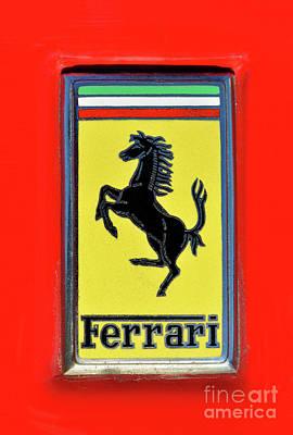 Event Photograph - Ferrari Badge by George Atsametakis