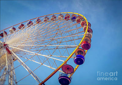 Repetition Photograph - Ferris Wheel by Bernard Jaubert