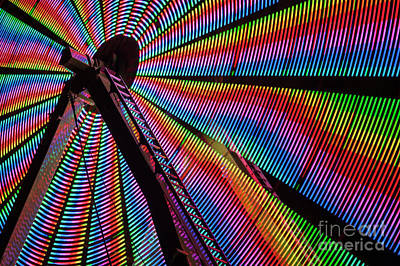 Photograph - Ferris Wheel In Motion  by Jim Corwin