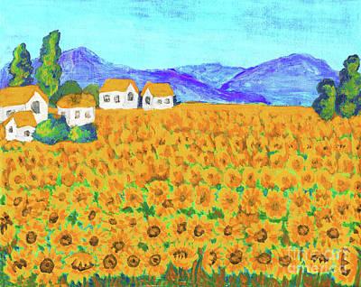 Painting - Field With Sunflowers by Irina Afonskaya