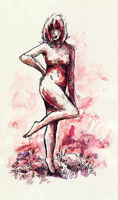 Figure Study Print by Rachel Christine Nowicki