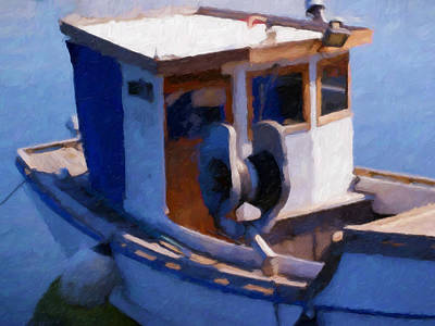 Painting - Fishing Boat by Lutz Baar