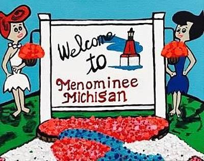 Painting - Flintstones Vacation To Menominee by Jonathon Hansen