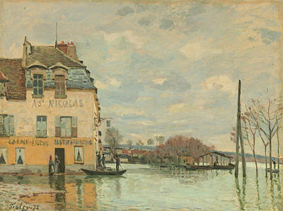 Painting - Flood At Port-marly by Alfred Sisley