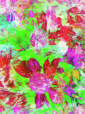 Floral Digital Pattern Art Print