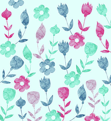 Pathway Digital Art - Floral Pattern  by Amir Faysal