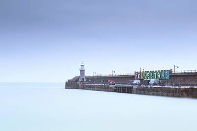 Folkestone Harbour Wall Art - Photograph - Folkestone Lighthouse by Ian Hufton