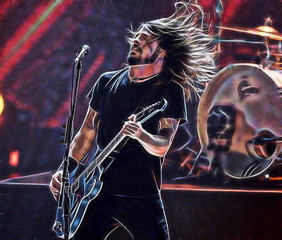 Dave Mixed Media - Foo Fighters Collection by Marvin Blaine