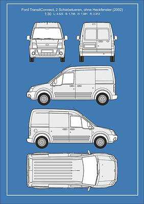 Ford Transitconnect 2002 Art Print