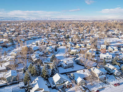 Photograph - Fort Collins Winter Cityscape by Marek Uliasz