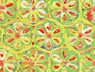 Abstract Flowers Digital Art - Fractal, Pattern, Kaleidoscope, Art by Raphael Terra