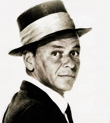 Frank Sinatra Painting - Frank Sinatra, Vintage Hollywood Legend by John Springfield