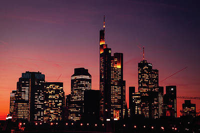 Skylines Royalty-Free and Rights-Managed Images - Frankfurt by Chris Thodd