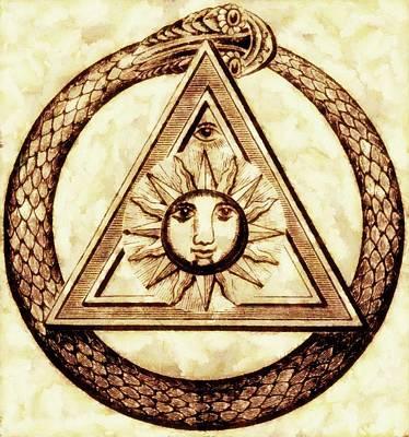 Illuminati Painting - Freemason Symbolism By Pierre Blanchard by Pierre Blanchard