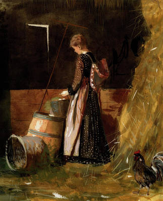 Winslow Homer Painting - Fresh Eggs by MotionAge Designs