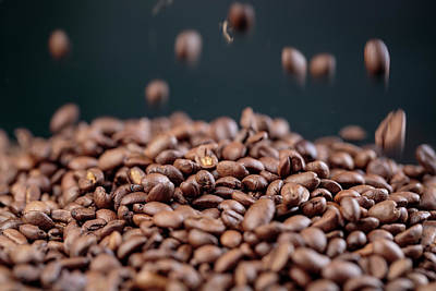 Turkish Photograph - Fresh Roasted Coffe Beans by Nailia Schwarz