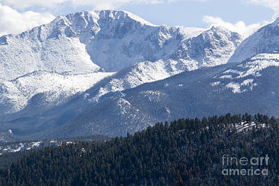 Steven Krull Royalty-Free and Rights-Managed Images - Fresh Snow on Pikes Peak by Steven Krull