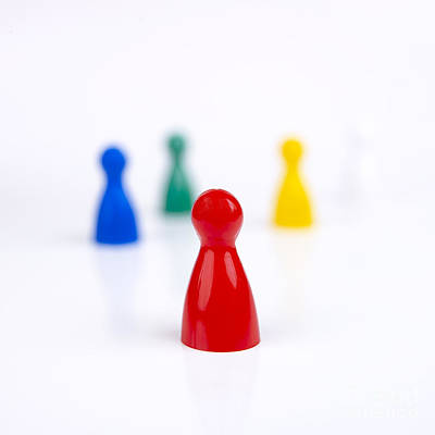 Different Colours Photograph - Game Pieces In Various Colours by Bernard Jaubert