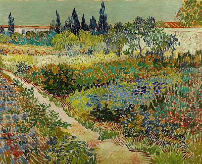 Netherlands Painting - Garden At Arles by Vincent van Gogh