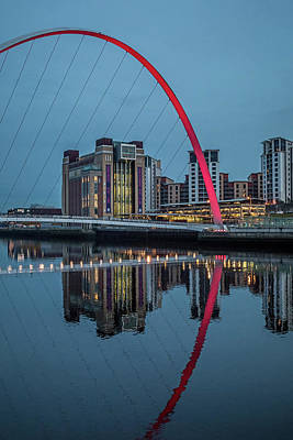 Photograph - Gateshead Millennium Bridge by David Pringle