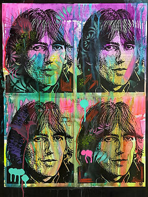 George Harrison Wall Art - Painting - 4 George by Dean Russo Art