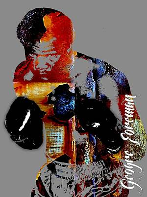 George Mixed Media - George Foreman Collection by Marvin Blaine
