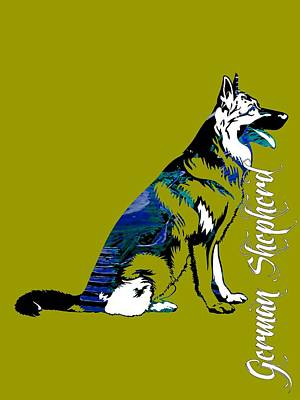 Puppies Mixed Media - German Sheperd Collection by Marvin Blaine