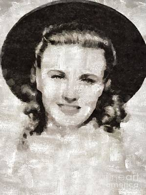 Ginger Rogers Hollywood Actress And Dancer Art Print by Mary Bassett