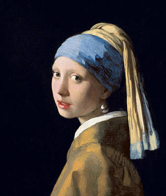 Baroque Painting - Girl With A Pearl Earring by Jan Vermeer