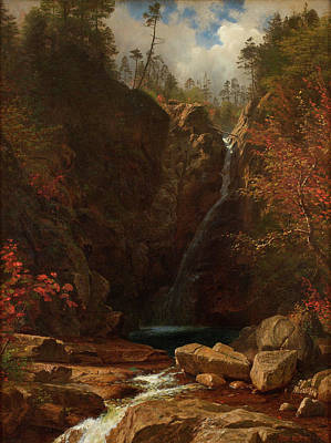 Rocky Painting - Glen Ellis Falls by Albert Bierstadt