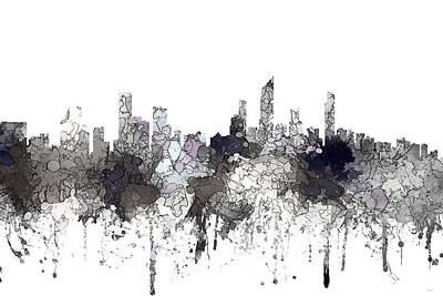 Digital Art - Gold Coast Australia Skyline  by Marlene Watson