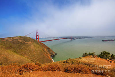 Photograph - Golden Gate Bridge Vista Point by Benny Marty