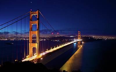 Landmark Digital Art - Golden Gate by Super Lovely