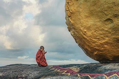 Myanmar Photograph - Golden Rock - Myanmar by Joana Kruse