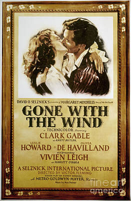 Gone With The Wind, 1939 Art Print by Granger