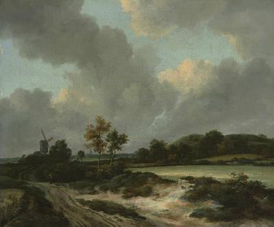 Painting - Grainfields by Jacob van Ruisdae